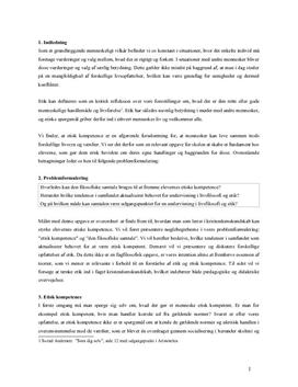 Livsfilosofi og etik | Eksamensopgave