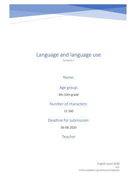 Language and language use | Synopsis