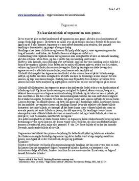 Gøngehøvdingen | Lærerfaglig analyse