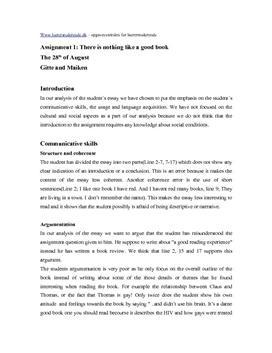 Analyse af engelsk stil