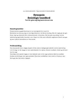 Synopsis om anoreksi