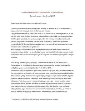 skriftlig eksamen dansk stx