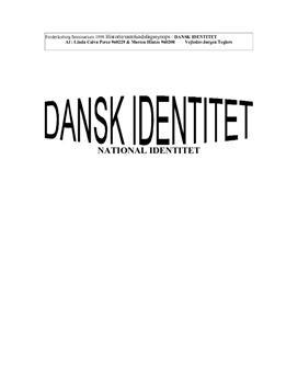 Semesteropgave om dansk identitet