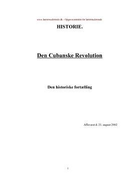 Den historiske fortælling om Cuba