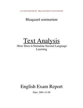 Tekstanalyse i engelsk