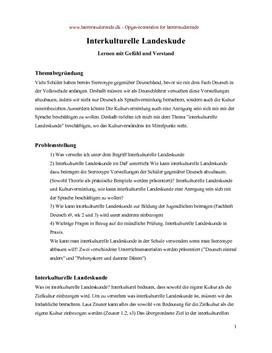 Eksamensopgave om lnterkulturelle Landeskunde