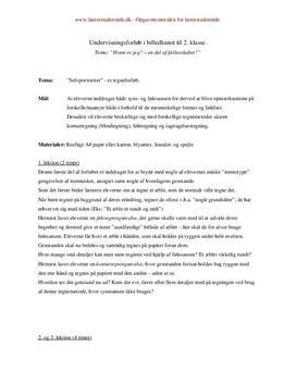 Undervisningsplan om portrættegning