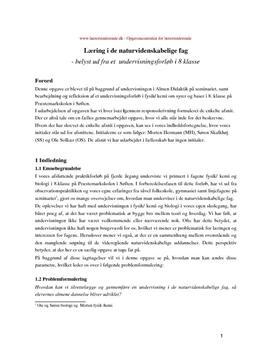 Dannelse og didaktik og undervisning om syrer og baser