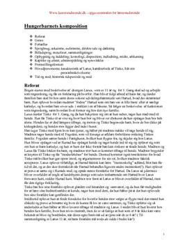 Analyse af Hungerbarnet skrevet af Cecil Bødker