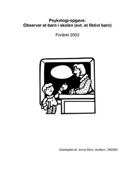 Semesteropgave om observation af et barn i 7. klasse