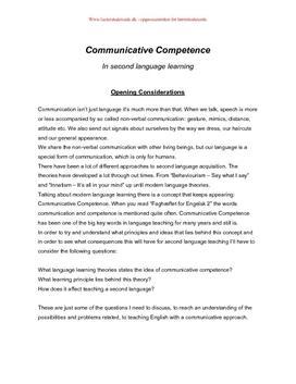 Eksamensopgave om kommunikativ kompetence