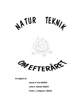 Natur/teknik og storyline og begrebskort