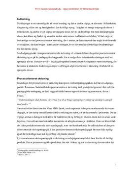 procesorienteret skrivning i forhold til tosprogede elever