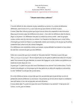 Fransk skriftlig eksamen 2003