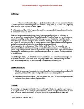 Harry Potter og De vises Sten | Analyse og undervisningsforløb