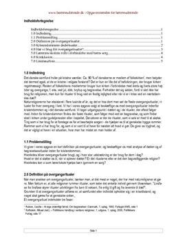 Semesteropgave om overgangsritualer