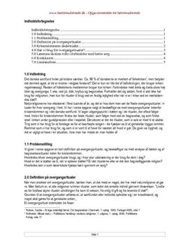 Overgangsritualer | Synopsis