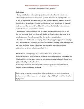 Målsætning i undervisningen | Kristendomskundskab