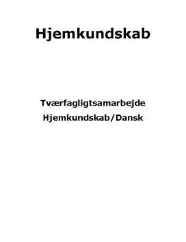 Tværfagligt samarbejde mellem dansk og madkundskab