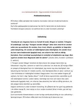 Lærerrollen i det senmoderne samfund | Bacheloropgave