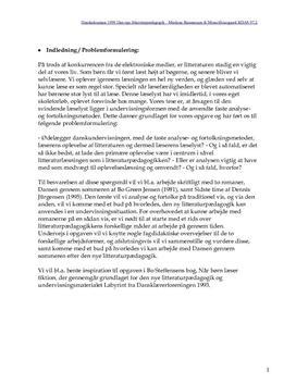 Dansk eksamen om litteraturpædagogik