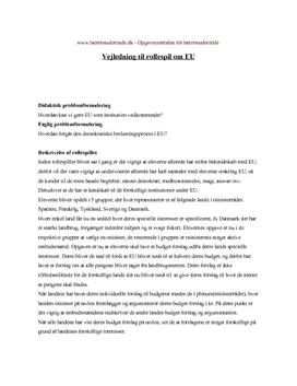 EU-rollespilsvejledning