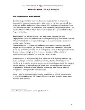 Analyse af Alle Tiders Dansk semesteropgave