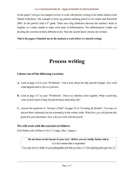 Undervisningsforløb i procesorienteret skrivning