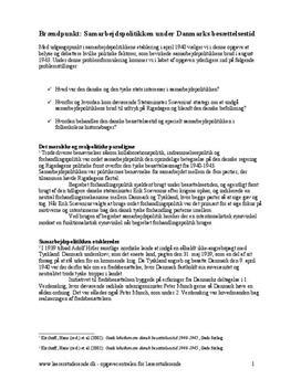Samarbejdspolitikken i historieundervisningen