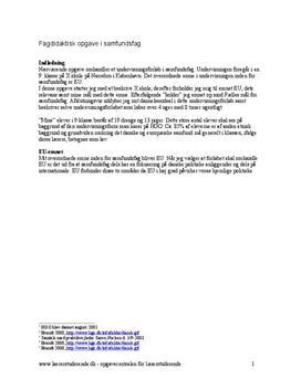 Undervisningsforløb om EU i samfundsfag
