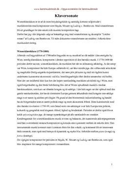 Leichte sonate | Analyse