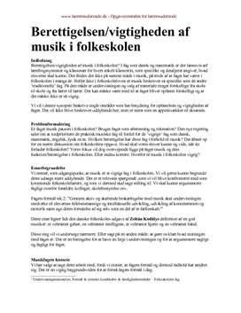 Vigtigheden af musik i folkeskolen | Synopsis