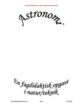 Semesteropgave om astronomi
