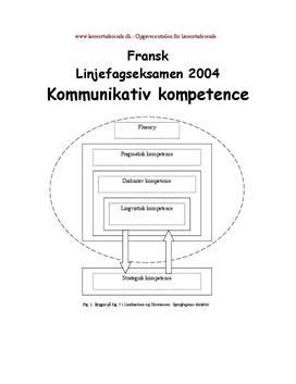 Kommunikativ kompetence i fransk | Eksamensopgave