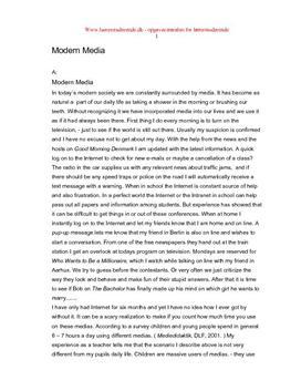 Modern Media | Eksamen i Skriftlig Engelsk 2004