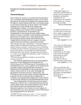 Kreativ skrivning i tysk | Synopsis