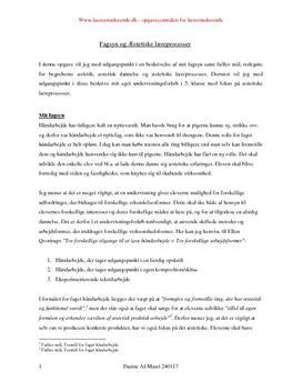 Fagsyn og æstetiske læreprocesser i håndværk og design