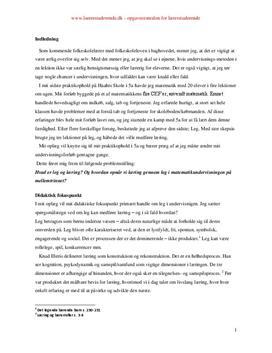 Leg og læring i matematik | Synopsis
