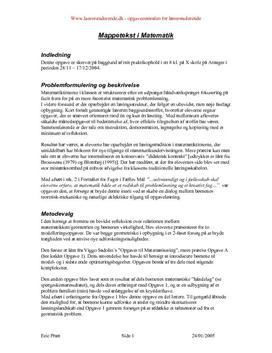 Mappetekst i Matematik | Praktikopgave