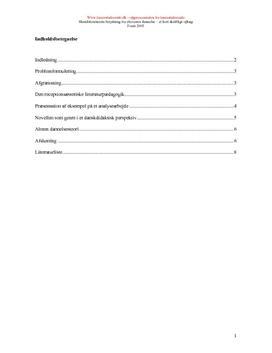 Skønlitteratur og elevernes dannelse | Synopsis