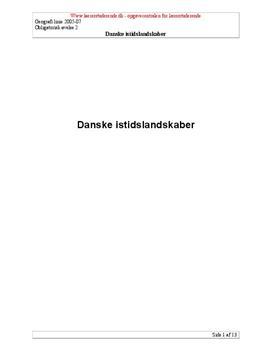 Danske istidslandskaber | Undervisning