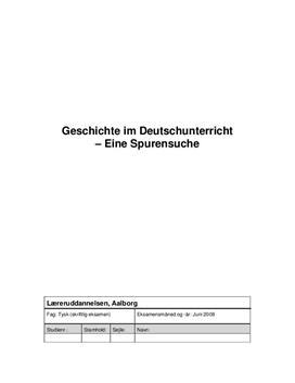 Geschichte im Deutschunterricht | Juni 2008