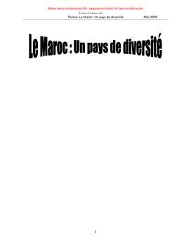 Le Maroc: un pays de diversité | Maj 2009