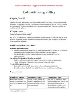 Radioaktivitet, med undervisningsforløb 9. kl