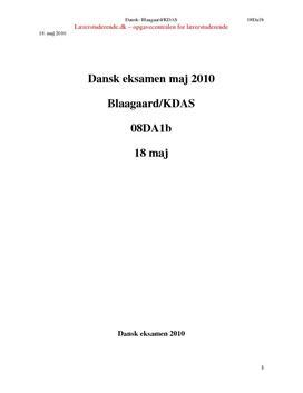 skriftlig eksamen dansk