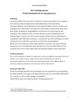 Ordforrådstilegnelse hos tosprogede elever