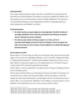 Bayeux-tapetet i historieundervisningen