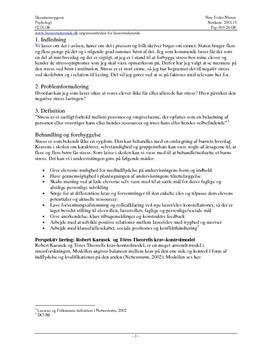 Eksamensopgave om stress og flowteori