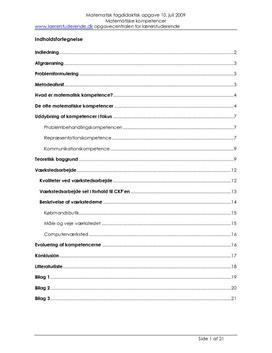 Semesteropgave om matematiske kompetencer