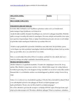 Alkohol i folkeskolen | Eksamensopgave